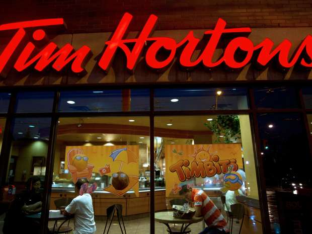 System-wide sales grew 7.9 per cent at Tim Hortons.